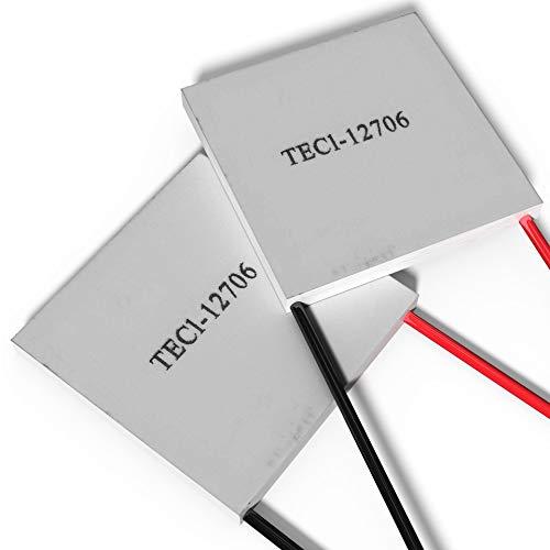 Peltierelement Thermoelectric Module Peltier TEC 12V [TEC1-12706] [60W] [2 Stück] | Thermoelektrische Kühlung Element Chiller Heatsink Kühlkoerper Kühlbox Generator Cooler