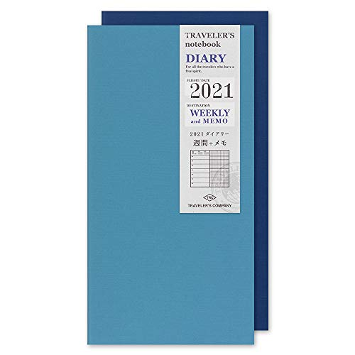 トラベラーズノート 手帳 リフィル 2021年 A5スリム ウィークリー 14419006 (2021年 1月始まり)