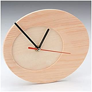 Glorex Clock Oval, FSC, Wood, natural, 20x 16.5x 3.5cm