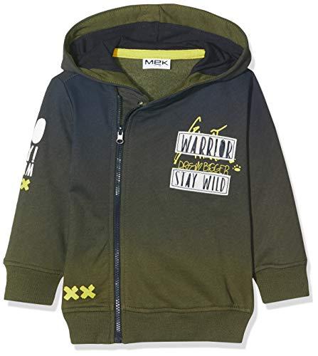 MEK Top Felpina Garzata Con Cappuccio Moda Sweat-Shirt À Capuche Sport, Vert (Verde Militare 09 678), 92 (Taille Fabricant: 24M) Bébé garçon
