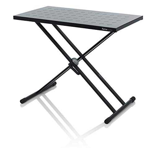"Gator Frameworks Utility Table Top and X Style Keyboard Stand Set; 32"" x 18"" Surface (GFW-UTL-XSTDTBLTOPSET),Black"