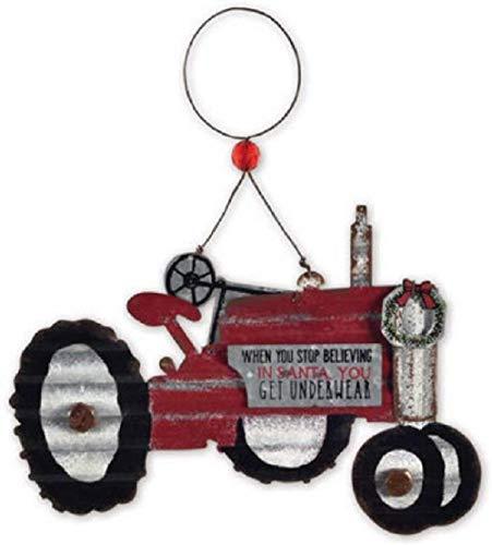 Sunset Vista Christmas Tractor Hanging Ornament