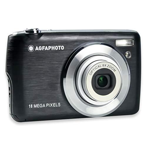 AgfaPhoto - Kompaktkamera Digitalkamera DC8200 - Schwarz - Gehäuse + 16 GB SD-Karte