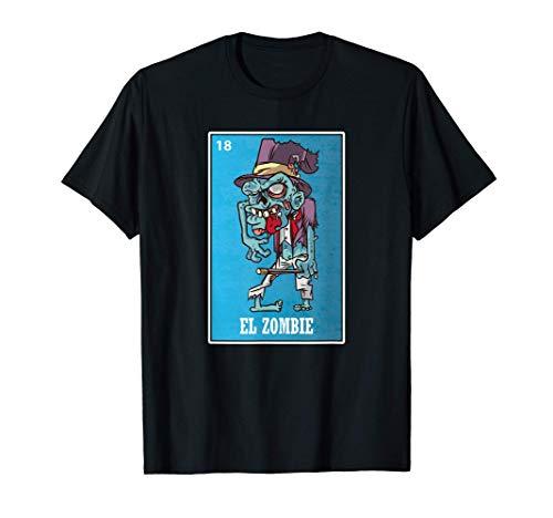 Camiseta El Zombie, juego de cartas y bingo Mexicano Camiseta