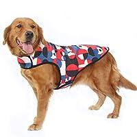 ハッピークレードル ビッグドッグコットンコート ビッグドッグベスト 大きな犬服 春、秋、冬の衣類 ラブラドール ゴールデンレトリバー アラスカマラミュート 大型犬 ペット服 4色 2XL-6XL
