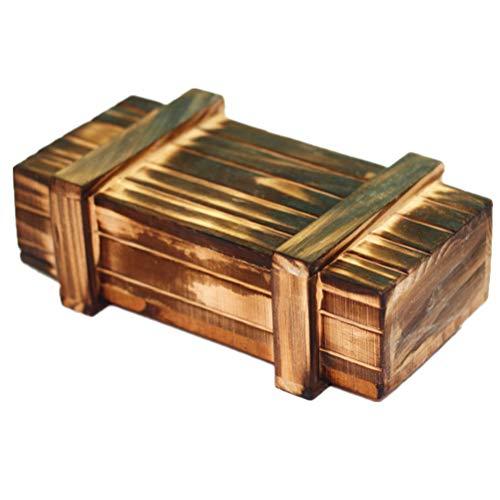 Toyvian Magic Box - Caja de puzle de madera, para niños y adultos