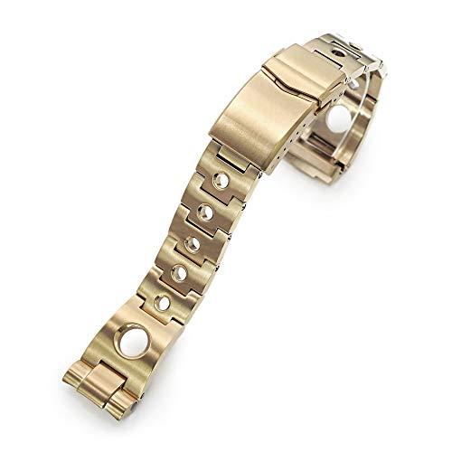 Correa de reloj de metal para reloj Seiko New Turtles SRPC44, 22 mm, color dorado