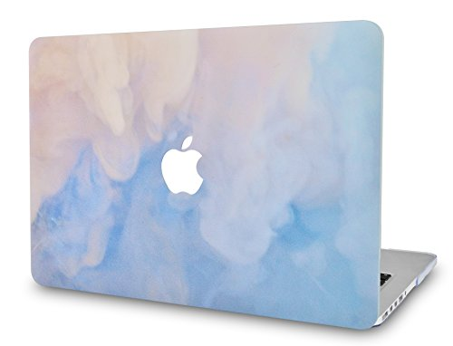 LuvCase Laptop Case for MacBook Air 13 Inch A1466 / A1369 (No Touch ID) Rubberized Plastic Hard Shell Cover (Blue Mist)