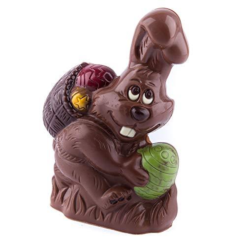 Schoko Osterhase 165g Vollmilch-Schokolade ideal als Geschenk zu Ostern für Kinder, Frau oder Mann