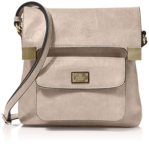 Bessie London Damen Crossbody-Umhängetasche, Stein, One Size