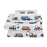 MAYIBO Kids Zone trozo de lámina de tamaño Completo Set Equipo de Construcción Camiones Tractores,120 * 150cm
