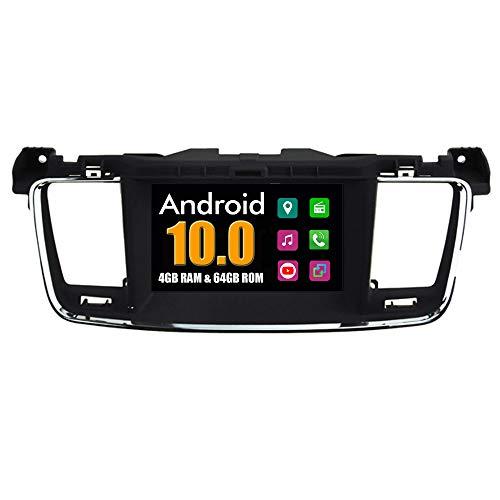 RoverOne Sistema Android Autoradio para Peugeot 508 con Multimedia DVD Estéreo GPS Navegación Radio Bluetooth USB Mirror Link