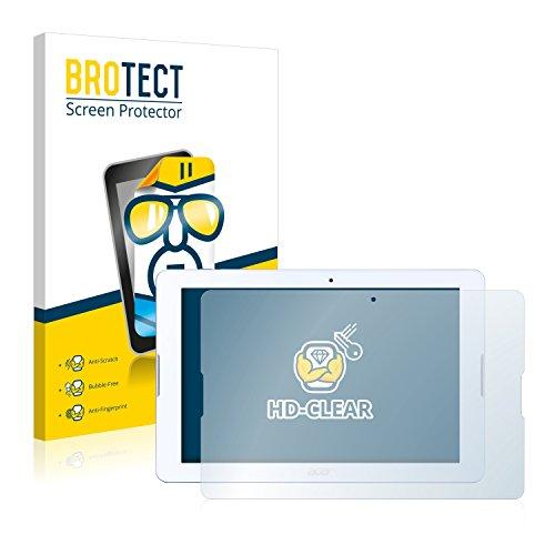 BROTECT Schutzfolie kompatibel mit Acer Iconia One 10 B3-A20 (2 Stück) klare Bildschirmschutz-Folie