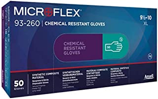 Microflex 93260100 93-260 7.8 Mil Triple-Layer Disposable Neoprene and Nitrile Blend Gloves, Large, Case (500)