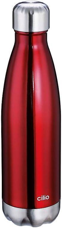 Cilio Elegante Vacuum Flask Stainless One Black Steel 新入荷 流行 Size 物品