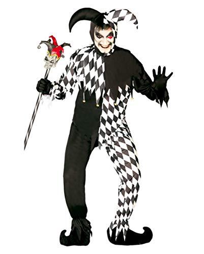 Horror-Shop Böser Harlekin Clown Kostüm