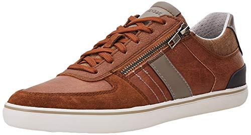 Geox U Elver A, Zapatillas Hombre, marrón, 41 EU