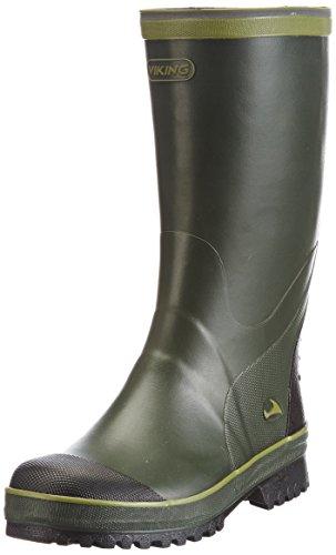 Viking Balder, Bottes en caoutchouc non-fourrées, tige haute mixte adulte - Vert - Grün (Green/Multi 450), Taille 37 EU