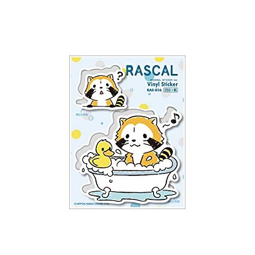 ラスカル ステッカー お風呂 ランドリーシリーズ キャラクターステッカー あらいぐま アニメ 人気 かわいい RAS016 gs 公式グッズ