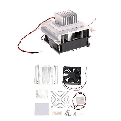 KKmoon DIY Thermoelektrischer Peltier Kühlung-Kühlsystem-Installationssatz Semiconductor Kühlvorrichtung-Leitungs-Modul + Heizkörper + Ventilator + TEC1-12706