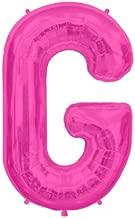 Magenta Letter G 41cm Foil Balloon