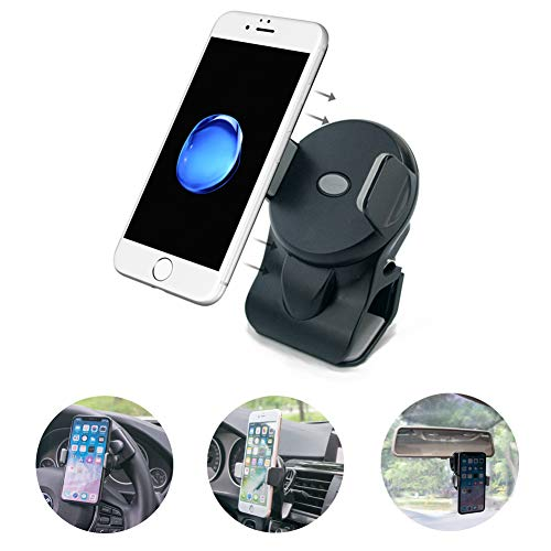 HLD07-GY Retail Packaging Gray Reiko Car Steering Wheel Phone Mount