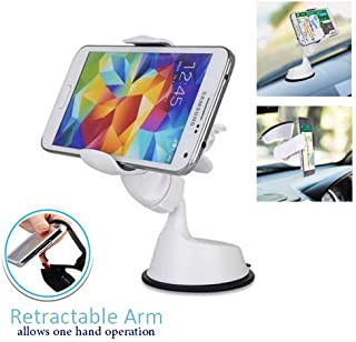 Randconcept 2 in 1 Windshield Phone Mount Dashboard Cell Phone Holder with Sticky Pad - Car Phone Clip Universal Fit for GPS iPhone Samsung Galaxy LG HTC Nexus & 3.8
