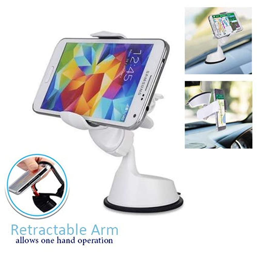 Randconcept 2 in 1 Windshield Car Phone Clip Dashboard Phone Holder with Sticky Pad - Strong Suction Cup Cell Phone Mount Universal Fit for GPS iPhone Samsung Galaxy LG HTC Nexus & 3.8