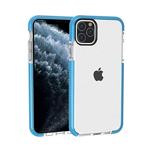 ZHANGHUI Carcasa protectora para iPhone 11 Pro, textura de baloncesto, anticolisión, TPU (negro), color azul