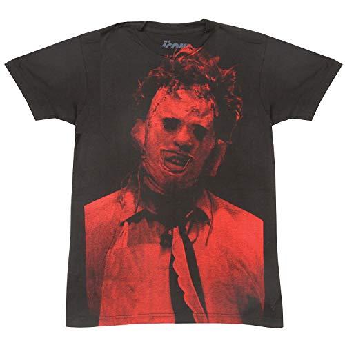 Impact Texas Chainsaw Massacre Leatherface Big Print Subway tee (Small) Black