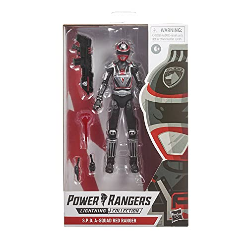Power Rangers Lightning Collection S.P.D. A-Squad Roter Ranger Premium Action-Figur (15 cm) zum Sammeln, von Serie inspirierte Accessoires