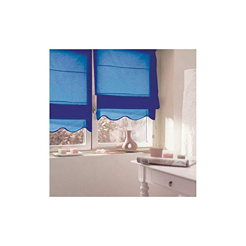 MADECOSTORE - Tenda a pacchetto, con base ondulata, 45 x 170 cm, colore: Blu navy