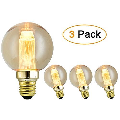 Edison Vintage Glühbirne - OnlineTek Dimmbar Lampe E27 XG80 3W 220V Warmweiß Antike Dekorative Glühlampe, Nostalgie und Retro Beleuchtung im Restaurant Haus Café Bar(3 Stück)