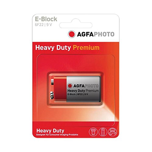 AGFA PHOTO E-Block 9V Battery Zinc Chloride Altaï AG005