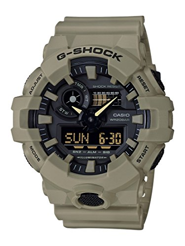 Casio G-Shock Analog-Digital Herrenarmbanduhr GA-700UC beige, 20 BAR