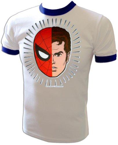 1984 Vintage Mego Style Alter-Ego Marvel Spiderman Peter Parker t-Shirt White