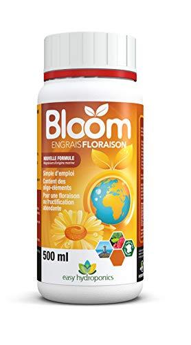 Easy Hydroponics - Nutriments - Bloom 500 ml (floraison) - Engrais complet pour cultures hydroponiques Easy Nutrients 8,5 x 8,5 x 14 cm Noir