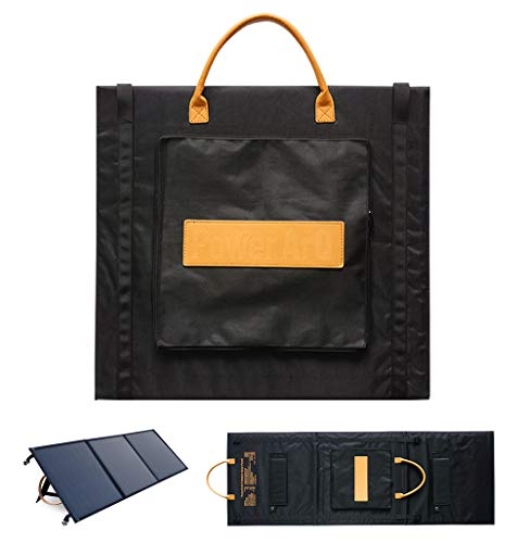 SmartTap 120W Solar Panel Charger, PowerArQ Solar Foldable, ETFE Single Crystal Solar Power Solar Charger, Equipped with High Efficiency Solar Panel, MC4 USB Type-C DC5521 (Input: 120W/18V/6.67A)