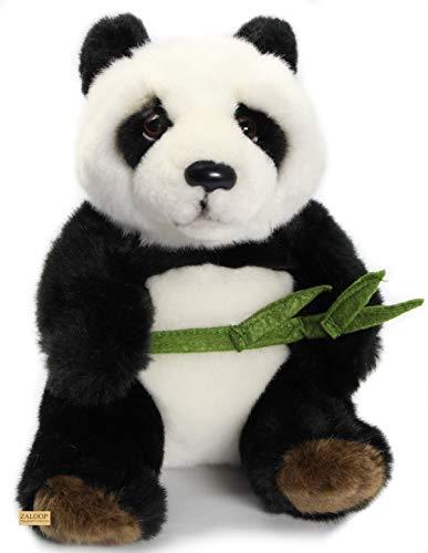 Zaloop Panda Bär mit Bambuszweig ca. 20 cm Kuscheltier Plüschtier Stofftier 198
