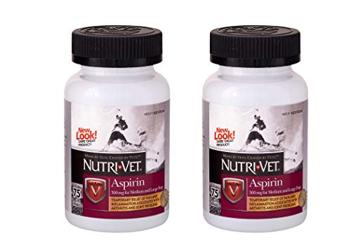 Nutri-Vet Aspirin Chewables for Large Dogs, 75 Count - Pack of 2