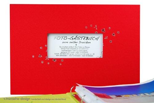 v. transehe design Fotoalbum / Hochzeitsalbum zum selberdrucken A4 quer rot