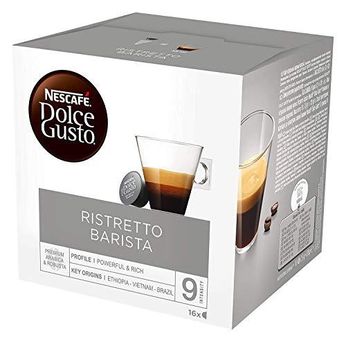 NESCAFÉ Dolce Gusto Espresso Barista, 16 Kaffeekapseln, kräftiger Espresso, Robusta und Arabica Bohnen, dunkle Röstung, dichte Crema, aromaversiegelte Kapseln, 1er Pack (1 x 16 Kapseln)