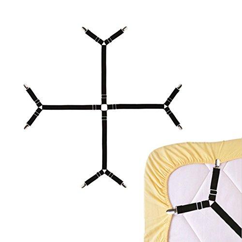 merssavo 1 x drap fermetures Fermeture antidérapants Jour Plafond Nappe en lin Fixed Clip Clamp 100 x 140 cm noir