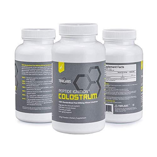 Pure Bovine Colostrum 100 Gram Premium Powder - TBR Labs - Antibiotic, Gluten & Hormone Free - USA Sourced - All Natural - 100% First Milking