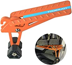 TOOENJOY Universal Fit Car Door Step, Foldable Roof Rack Door Step Up on Door Latch, Supports Both Feet, Easy Access to Rooftop for Most Car, SUV, Truck, Max Load 400 lbs (Orange)