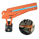 TOOENJOY Universal Fit Car Door Step with Portable Bag, Foldable Door Step Pedal Up on Door Latch, Supports Both Feet, Easy Access to Rooftop for Most Car, SUV, Truck, Max Load 400 lbs (Orange)
