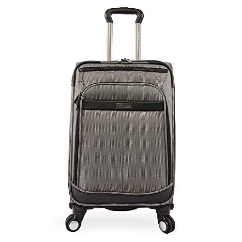 Perry Ellis Lexington II Lightweight Carry-on Spinner Luggage, Herringbone, One Size