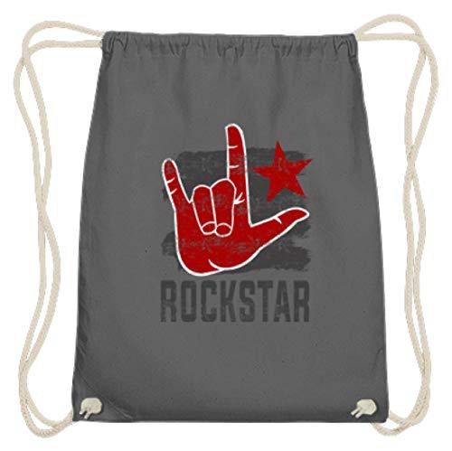 Rockstar Rock'n'Roll Hand - Pommesgabel - Schlichtes Und Witziges Design - Baumwoll Gymsac