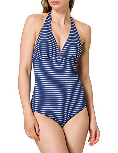 Marc O'Polo Body & Beach Damen Women Beach Badeanzug, Navy, 040