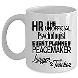 N\A Abogado y Maestro Taza de café, RRHH La Taza no Oficial del psicólogo (Taza de café - Blanco)